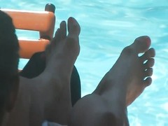 candid hispanic Pool Toes Thumb