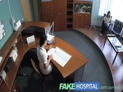 FakeHospital Nurse seduces patient and likes gobbling her snatch Thumb