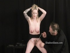 yellow-haired inexperienced sub  Weekays powerful bdsm and vagina torture of tattooed Thumb