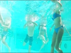 handsome Underwater swimsuit asses Thumb