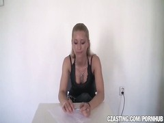 CZasting - Smoking steaming blondie with thin assets Thumb