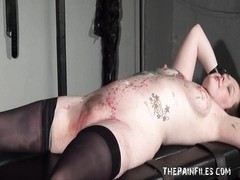 penalty  rack restrain bondage  of tattooed fledgling  slavegirl in xxx  bdsm Thumb