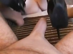 archaic busty amateur Takes Care Of Husband's shaven fuck-stick Thumb