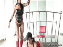 Angelina Valentine in domination of Veronica Thumb