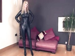 Mistress Sidonia's Leather Catsuit Thumb