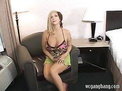 Brittany Blaze gets her suited gangbang Thumb
