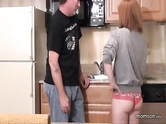 Step dad pulverizes Daughter in the Kitchen Thumb
