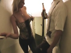 large titted amateur dame penetrating and taking facial Thumb