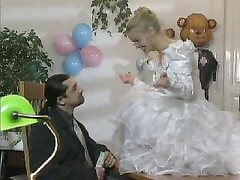 blonde European Bride gets slurped and butt pulverized Thumb