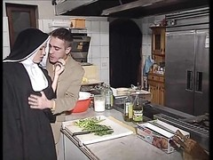 quiet European Nun gets her bootie fucked right and hard Thumb
