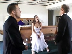 adorable  bride getting drilled by two Thumb