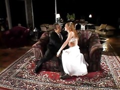 Curly bride gets drilled in the arse Thumb
