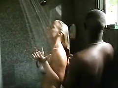 Interracial Shower Thumb
