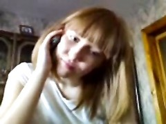oral pleasure and handjob by Redhead Russian teen while on phone Thumb