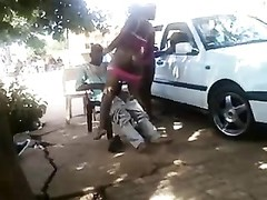 African sluts banging at the street Thumb