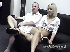 old guy cleans his girlfriends cummy brown-eye Thumb