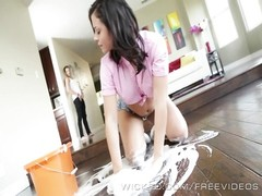 depraved - soiled maid Keisha Grey works for her tip Thumb