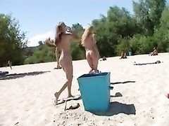 teen nudists lift off their clothes and play nude Thumb