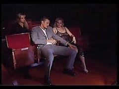 Italian threesome at cinema with 2 yellow-haired milfs Thumb