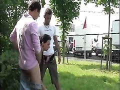 young huge-chested teen public ORGY group sex share 1 Thumb