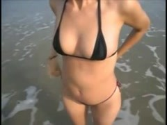 Amateur wife hot thong scene on the beach Thumb