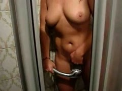 GF cums in the shower Thumb