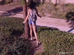 Glamour brunette banging with mature in Teen Fidelity video Thumb