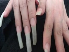 Natural Long Fingernails Thumb