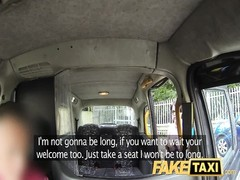 FakeTaxi - Brunette with glasses gets torn up Thumb