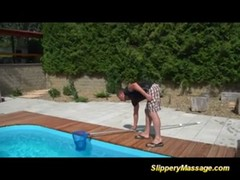 Slippery nuru massage for poolboy Thumb