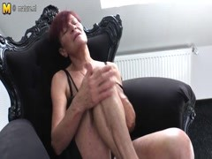 Skinny old granny with hairy hungry vagina Thumb