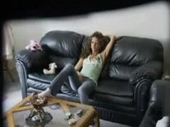 Hidden camera caught teen chick masturbating on a couch Thumb