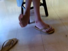 Candid Asian Library Girl Feet and Legs Final Part Thumb
