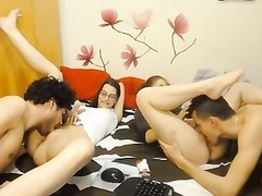 2 gorgeous Boys And two  damsels  absorb hookup On CamHot, Couples Poland Thumb