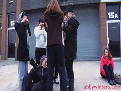 Ring girls are showing off their bodies in the video by Abby Winters Thumb