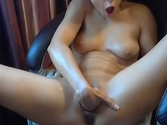 Young slut hammers away with toy at her pussy for cam Thumb