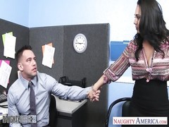 buxomy brunette Holly West scurry shaft in the office Thumb