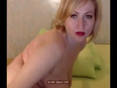 Big-breasted French mommy is spreading her long legs Thumb