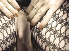 Colette and her enormous erect clit Thumb
