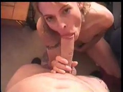 Down on her knees sucking big cock Thumb