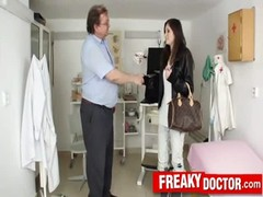 Gorgeous slim babe Kattie Gold dirty doctor exam Thumb