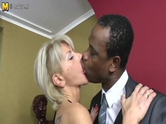 Posh mature mom takes big black cock Thumb