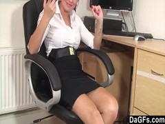 Suzie Is Feeling Horny At The Office Thumb