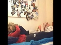 Hidden cam - Black and blonde fucking in bedroom Thumb