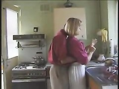 blondie English beauty pumelled in the kitchen Thumb