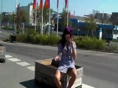 Milf pussy masturbation in the street in amateur public porn Thumb