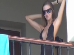 Nice amateur anal on balcony Thumb