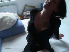 Amateur in a sexy black dress ends up fucked Thumb