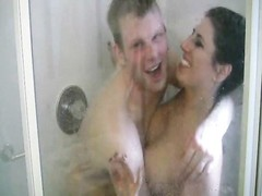 lovers films a small verbal fun in shower Thumb