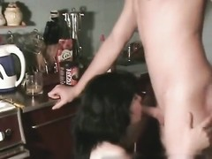 warm Homemade brilliant lovers Kitchen drill And jizz shot On boobs Thumb